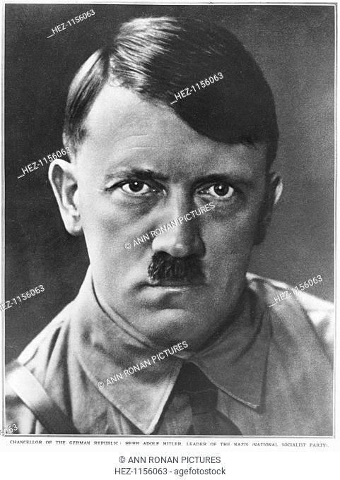 Adolf Hitler, Chancellor of the German Republic, c1933. Adolf Hitler (1889-1945) became leader of the National Socialist German Workers (Nazi) party in 1921