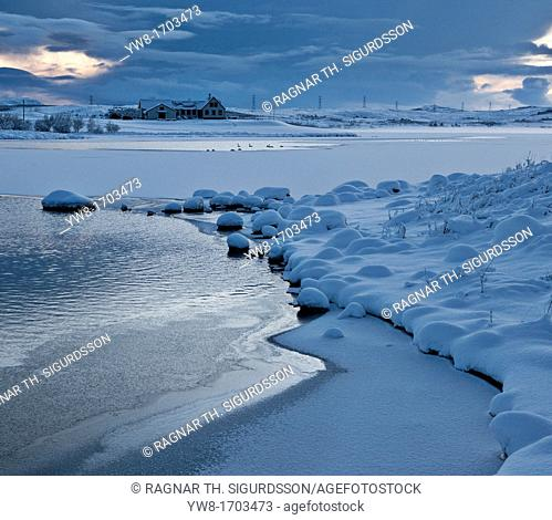Winter Landscape, Heidmork Park by Reykjavik, Iceland