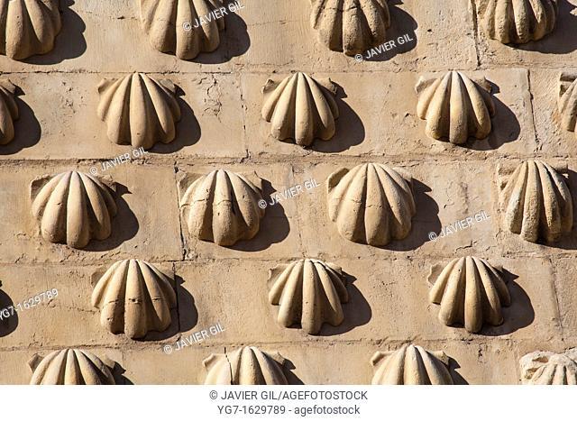 Detail of the facade of San Marcos, Leon, Castilla y Leon, Spain