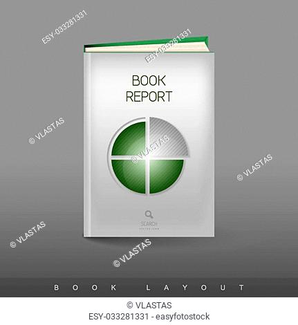 Modern abstract brochure as book flyer design template. Business - report theme