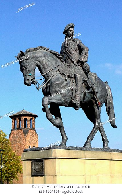 A statue in Derby, England commemorates the place where Bonnie Prince Charlie, the pretender to the English throne in the rebellion of 1745