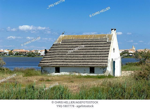 Thatched Guardian House or Hut at Les Saintes-Maries-de-la-Mer Camargue France