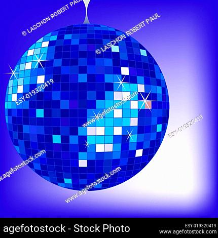 disco ball blue