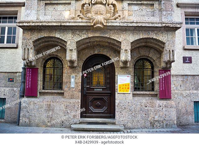 Stadtarchiv, Stadtmuseum, city archive and city museum, Badgasse, Altstadt, Innsbruck, Inn Valley, Tyrol, Austria