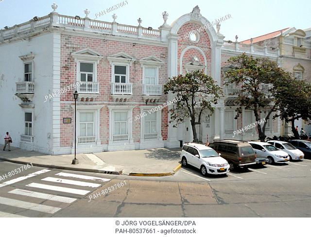 A view of the the former La Merced monastery in Cartagenade Indias, Colombia, 01 March 2016. On 22 May 2016 the urn with the ashes of Colombian recipient of...