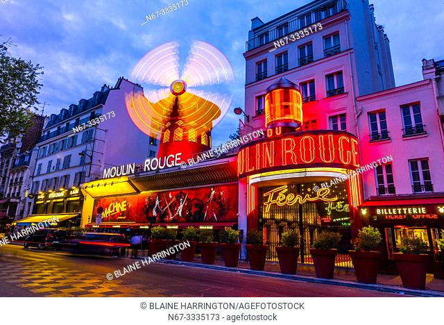 Moulin Rouge (French for Red Windmill) is a tourist attraction in Pigalle on Boulevard de Clichy, 18th arrondissement. It is best known as the birthplace of the...