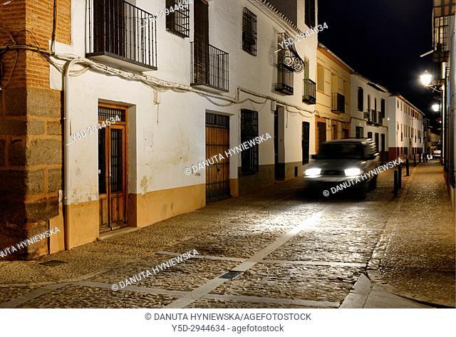 Calle de D. Jacinto Benavente, Villanueva de los Infantes, Ruta de Don Quijote, Ciudad Real, Castile-La Mancha, Spain, Europe