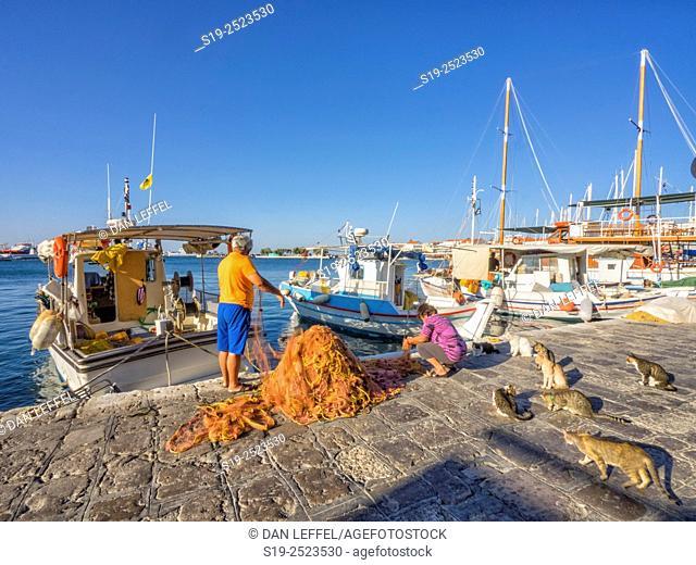 Fishing harbour, Samos. Greece