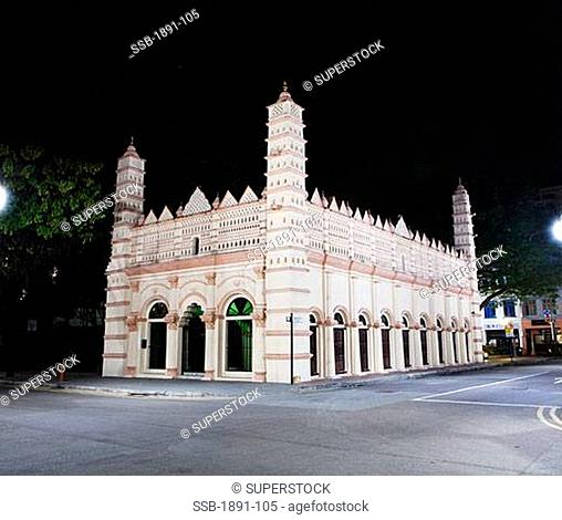 Facade of a shrine, Nagore Durgha, Telok Ayer, Chinatown, Singapore