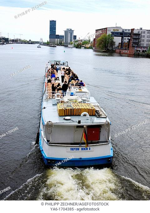 Pleasure boat on Spree river, Berlin