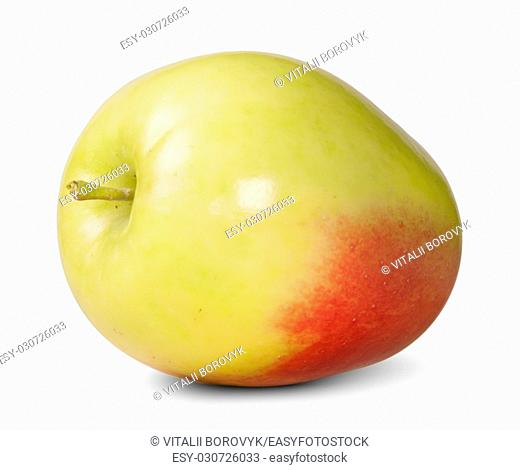 Red And Yellow Apple Isolated On White Background
