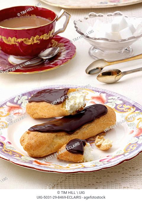 Eclairs In Table Setting