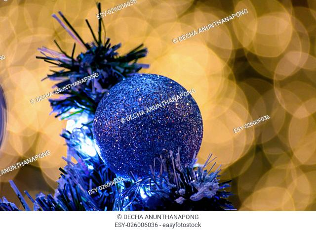 The Xmas ball with bokeh light background
