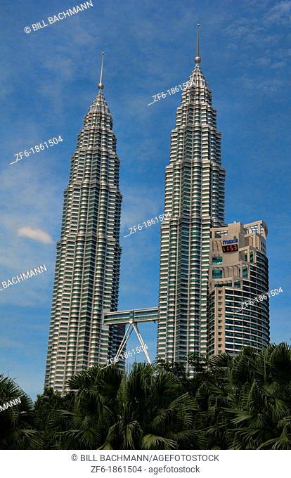 Kuala Lumpur Malaysia modern city Gigantic Twin Towers largest world high skyscraper Asia Asian