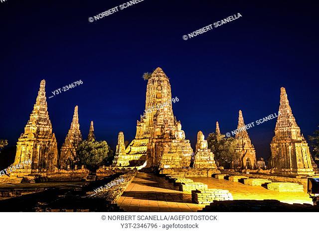 Asia. Thailand, Phra Nakhon Si Ayutthaya, old capital of Siam. Ayutthaya archaeological Park, classified UNESCO World Heritage