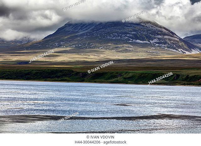 View of Jura island, Seascape, Islay, Inner Hebrides, Argyll, Scotland, UK