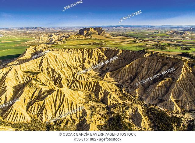 Landscape, Bardénas Reales, Navarre, Spain