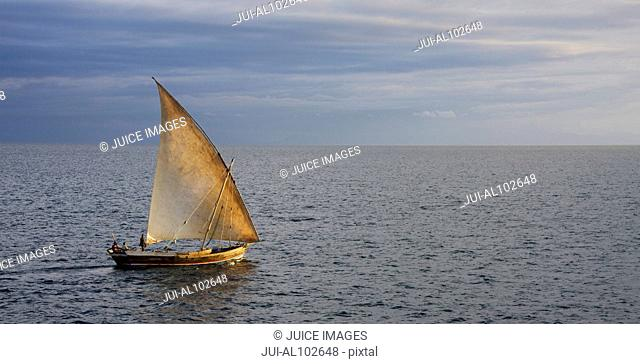 Dhow at the coast of Nosy Be, Madagascar