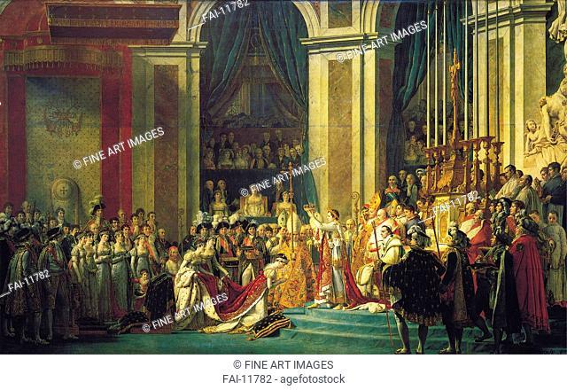 The Coronation of Napoleon at Notre-Dame de Paris on December 2, 1804. David, Jacques Louis (1748-1825). Oil on canvas. Neoclassicism. 1807
