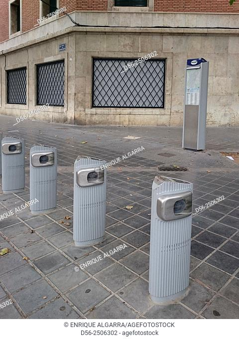 bicycles parking, Valencia, Spain