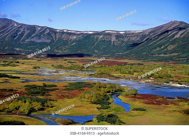 Russia, Kamchatka, View Of Uzon Caldera, Hot Springs