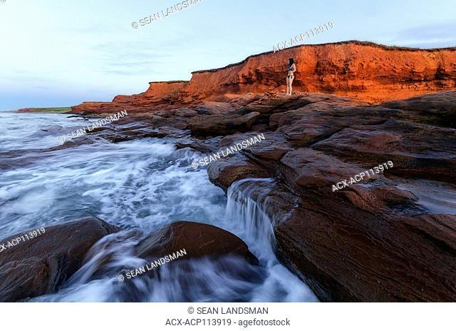 Cousins Shore, Prince Edward Island, Canada, woman, ocean, coast, traveler