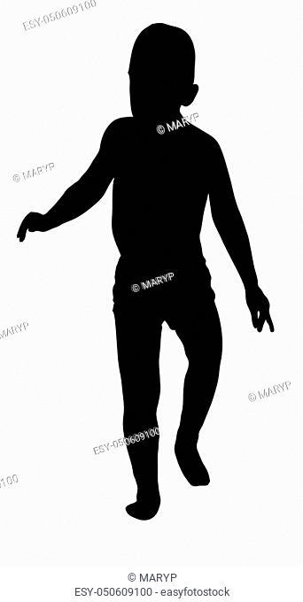 Silhouette of a little boy
