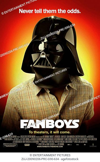 RELEASE DATE: February 6, 2009. MOVIE TITLE: Fanboys. STUDIO: The Weinstein Company. PLOT: Star Wars fans travel to Skywalker Ranch to steal an early copy of...