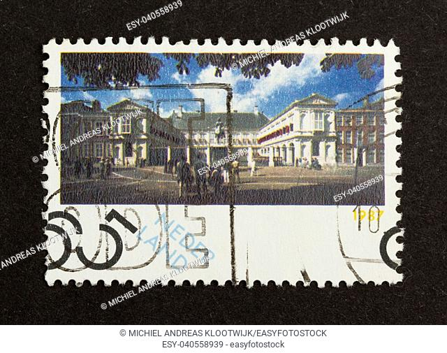 HOLLAND - CIRCA 1980: Stamp printed in the Netherlands shows a national building, circa 1980