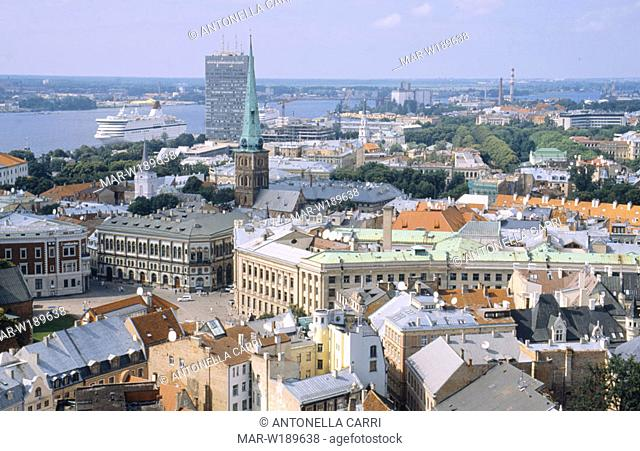 europe, latvia, riga, old city, landscape