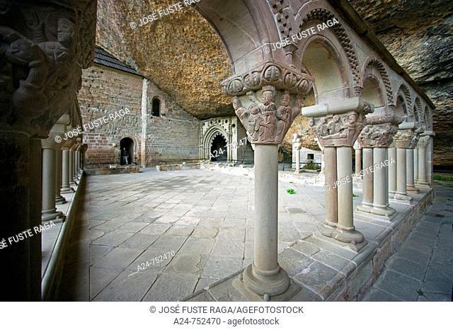 Monastery of San Juan de la Peña. Huesca province, Aragon, Spain
