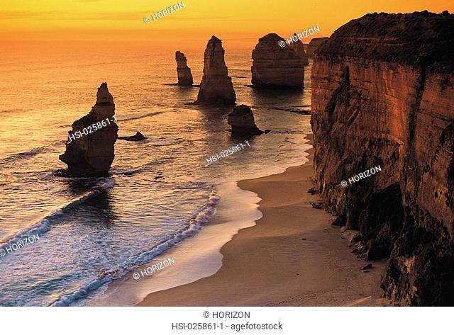 Travel, Australia, Victoria, Warrnambool Region, Great Ocean Road, Coast, Twelve Apostles, Rock pillars