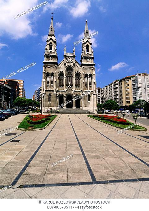 St. Thomas Church in Aviles, Asturias Region, Spain