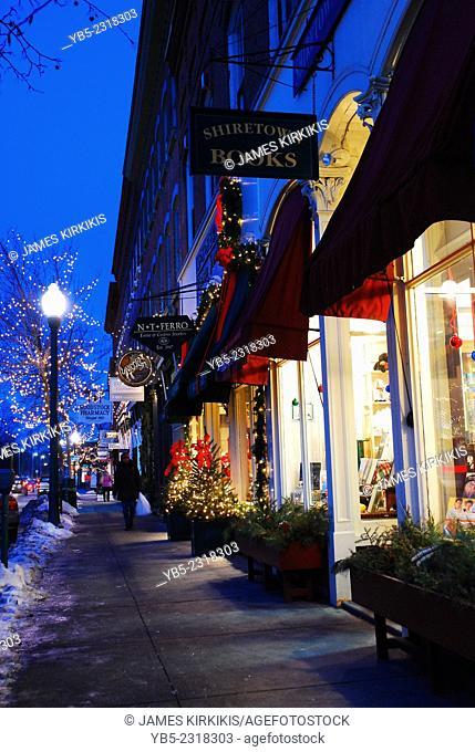 New England Town at Chrstmas