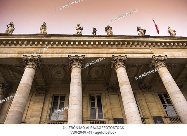 National Opera theatre. Historic center, Bordeaux. Aquitaine Region, Gironde Department. France Europe