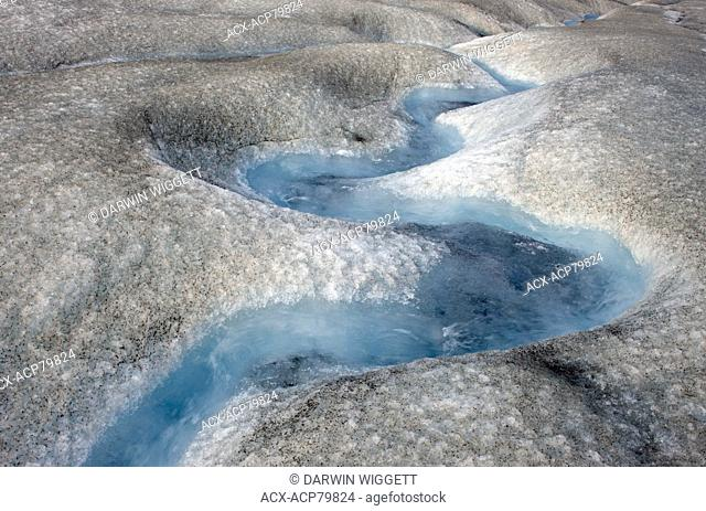 Athabasca Glacier detail, Columbia Icefields, Jasper National Park, Alberta, Canada