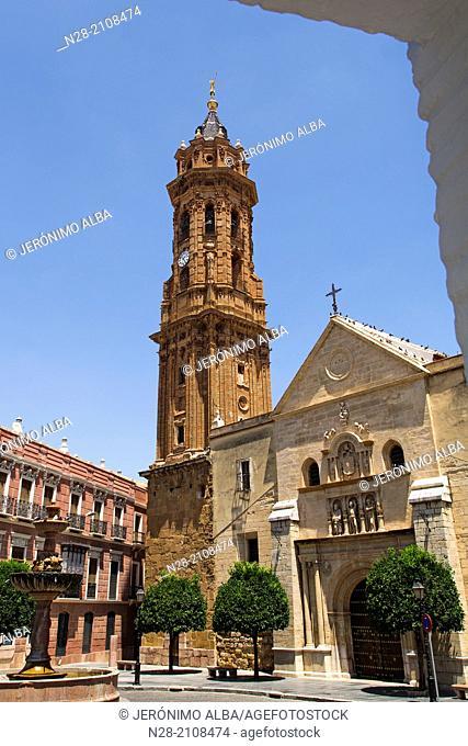 Collegiate Church of San Sebastián, Antequera, Malaga, Andalusia, Spain