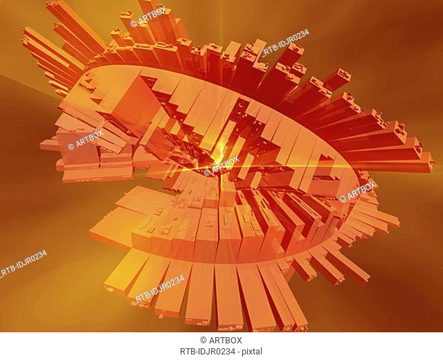 Abstract pattern on an orange background