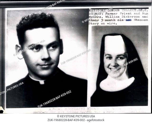 Feb. 28, 1968 - American Roman Catholic Priest Now Married To Former Nun Goes On Television IN Support Of Moves To Relax The Celibacy Laws Of The Church: An...
