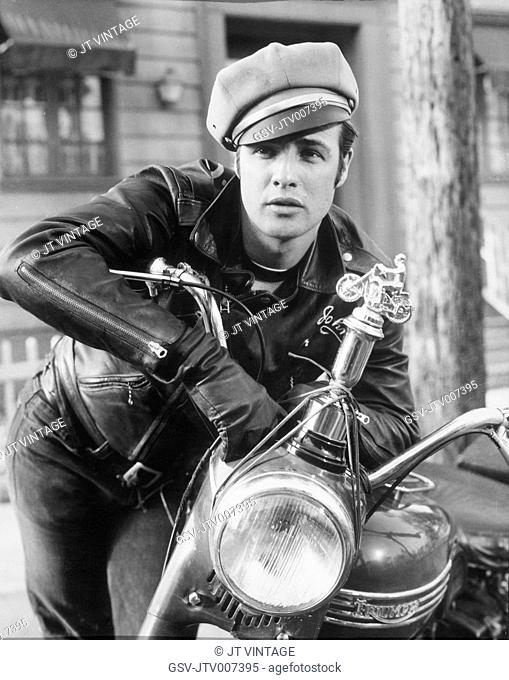 Marlon Brando, on-set of the Film The Wild One, 1953