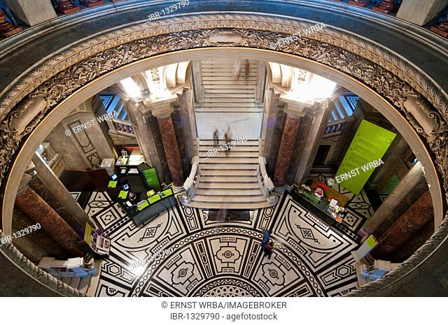 Entrance hall, Kunsthistorisches Museum Museum of Arts, Ringstrasse street, Vienna, Austria, Europe