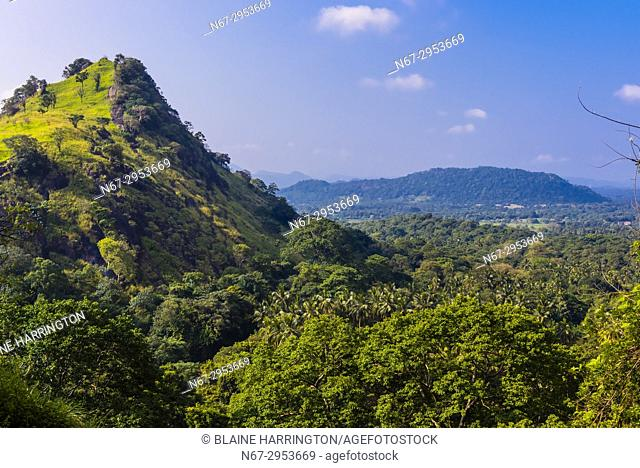 Mountains, Dambulla, Central Province, Sri Lanka
