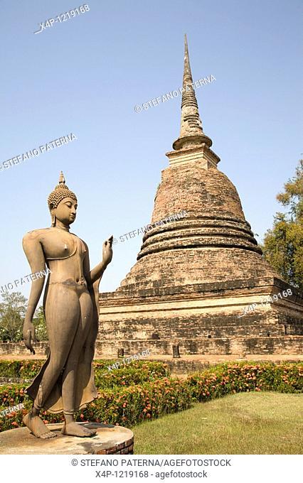 Wat Sa Si. Sukhothai, Thailand