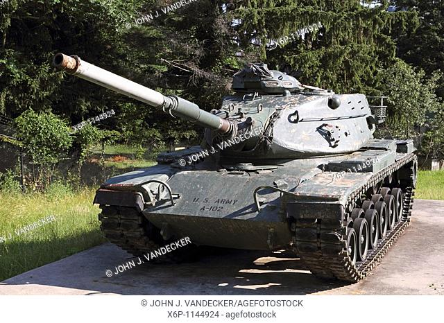 United States M60A1 Army Tank also called the Patton tank in honor of General George Patton, Commander of the US Third Army in World War II  The Patton tanks...