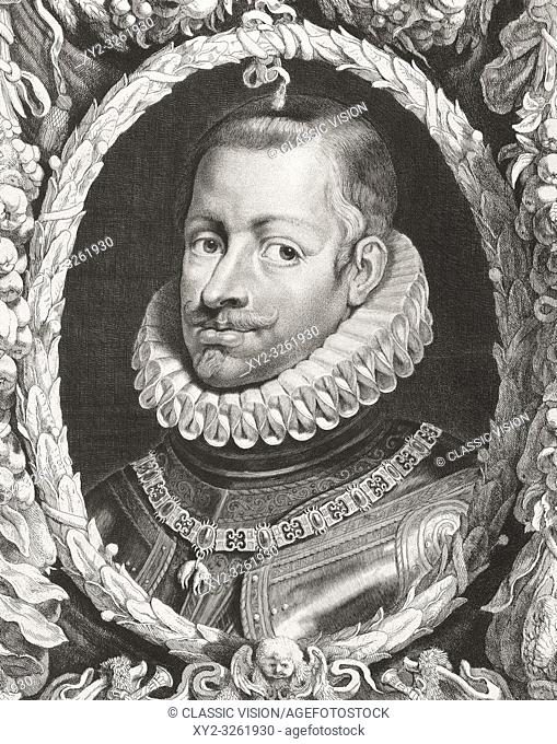 "Philip III of Spain, 1578 â. "" 1621. Felipe III, King of Spain and Portugal. After an 17th century print"