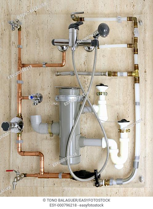 copper plumbing installation and polyethylene pvc diagram stoves valves drain