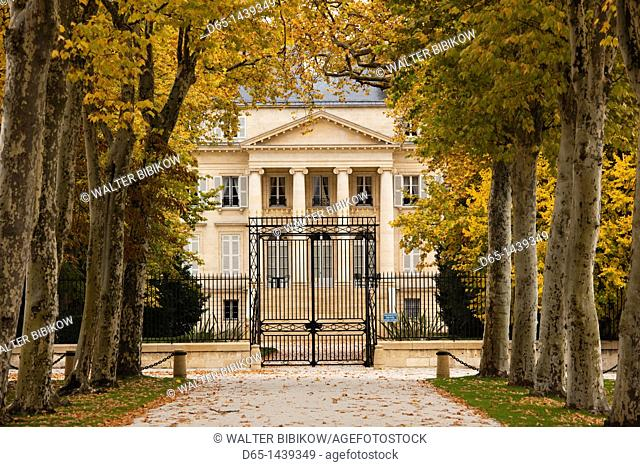 France, Aquitaine Region, Gironde Department, Haute-Medoc Area, Margaux, Chateaux Margaux estate