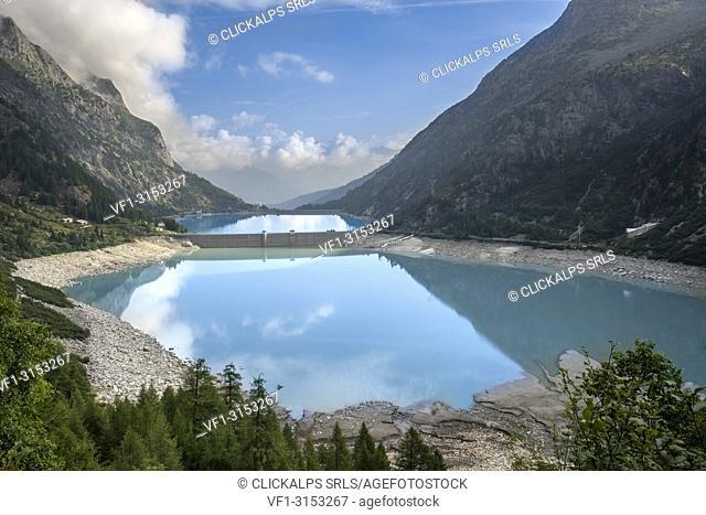 Avio lake, Edolo, Province of Brescia, Lombardy, Italy