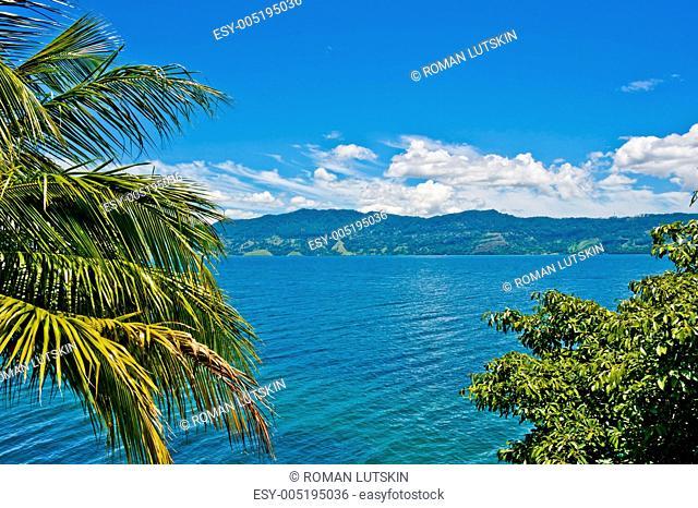 View of Lake Toba in Sumatra