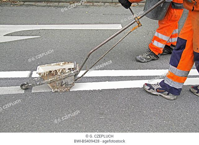 road marking work, Germany